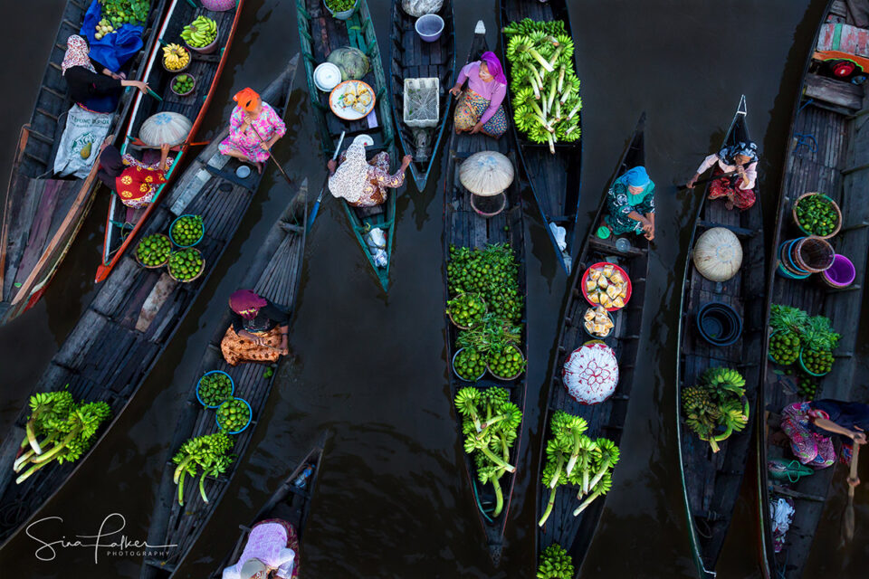 Lok Baintan Floating Market - Borneo, Indonesia - (1st Prize at the Siena International Photo Awards 2018, Nominated for National Geographic Travel Photographer of the Year).