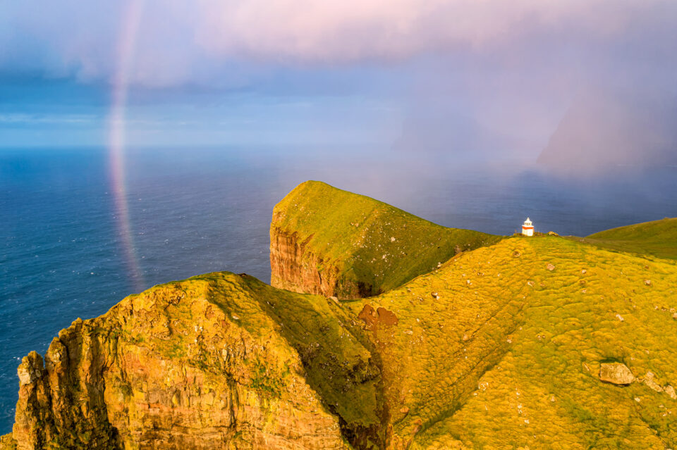 An image of a rainbow from Faroe Islands