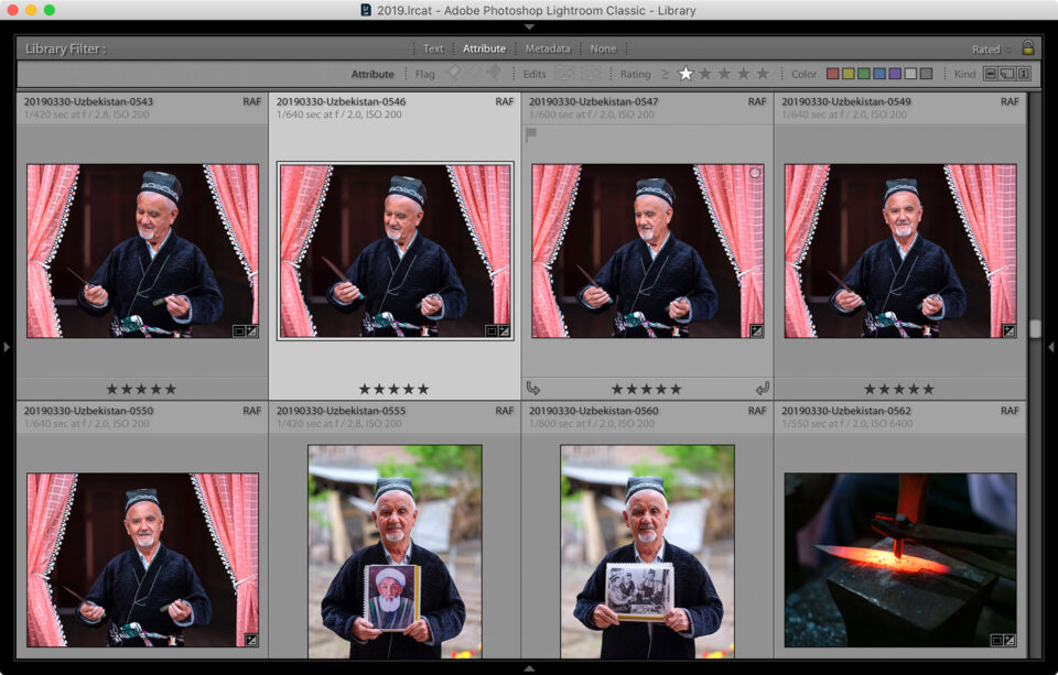 Lightroom Starred Images