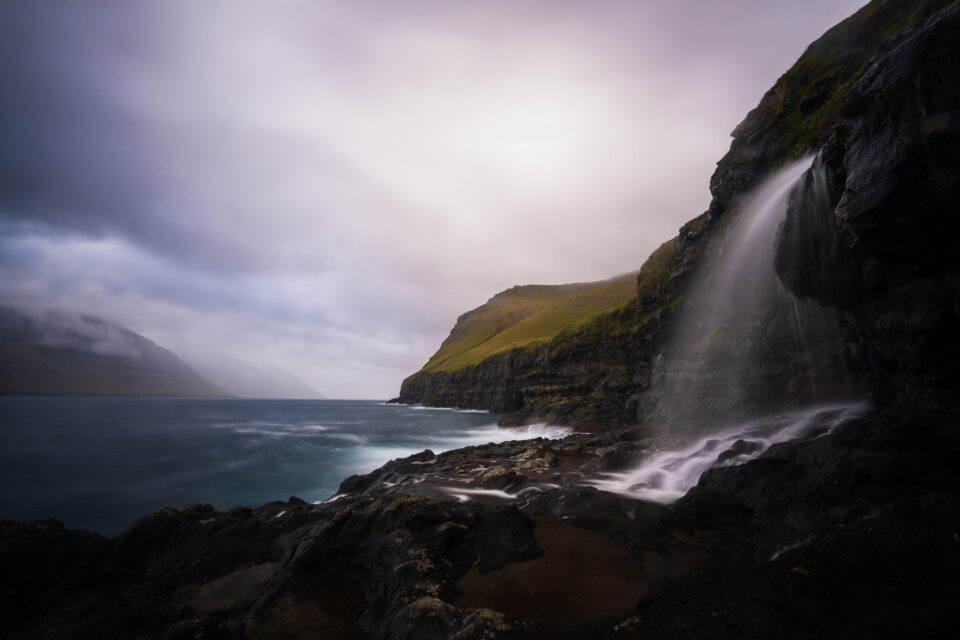 I took this landscape photo with a 30 second shutter speed, meaning that it is a long exposure.