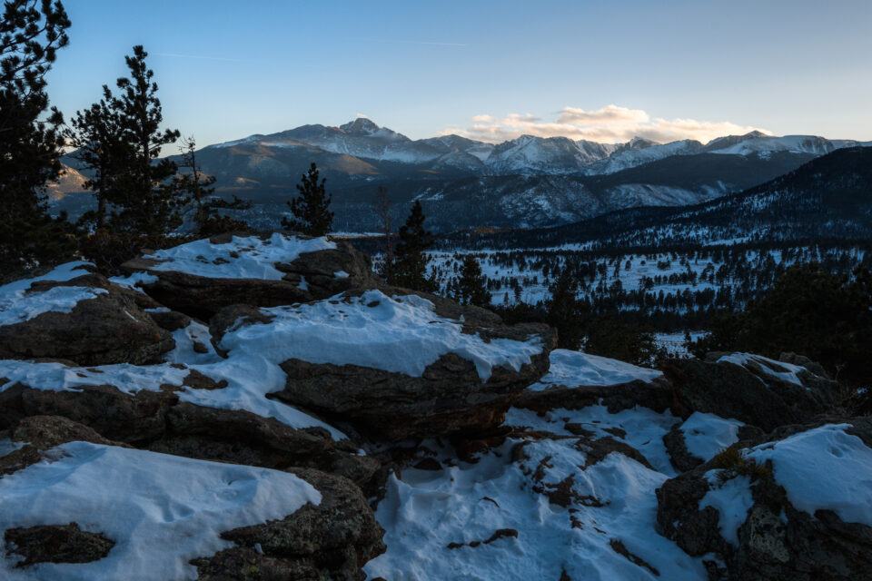This landscape photo of Rocky Mountain National Park was taken with the 16-35mm f/4.