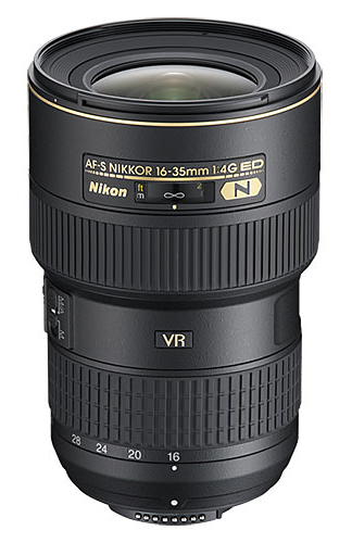 The Nikon 16-35mm f/4 VR is one of the most popular wide angle lenses for Nikon cameras.