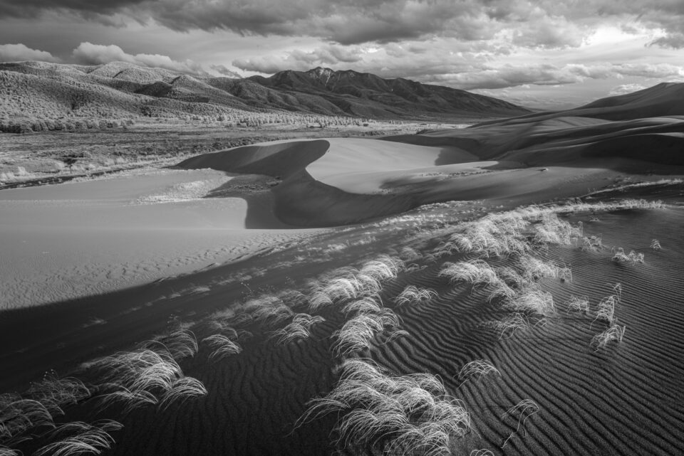I took this black and white landscape photo of the Great Sand Dunes National Park in Colorado using the Rokinon 14mm f/2.4 on the Nikon D800e.