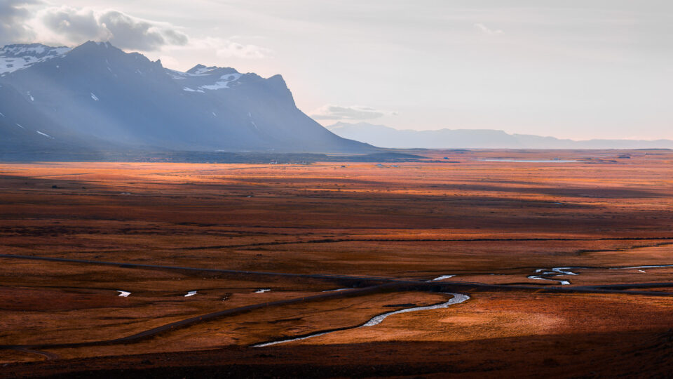 Landscape photo of a river valley in Iceland