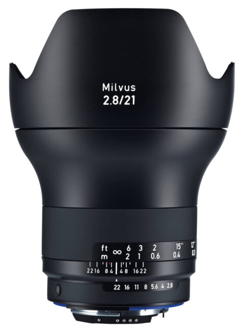 The Zeiss Milvus 21mm f/2.8 is a manual focus lens for Nikon DSLRs. Because of the high-quality construction and impressive image quality, the 21mm f/2.8 is a higher-end, expensive lens.
