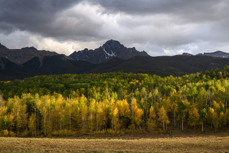 I took this landscape photo with the Nikon Z7 after using the camera for about one year. It shows Mount Sneffels in Colorado during the fall colors.