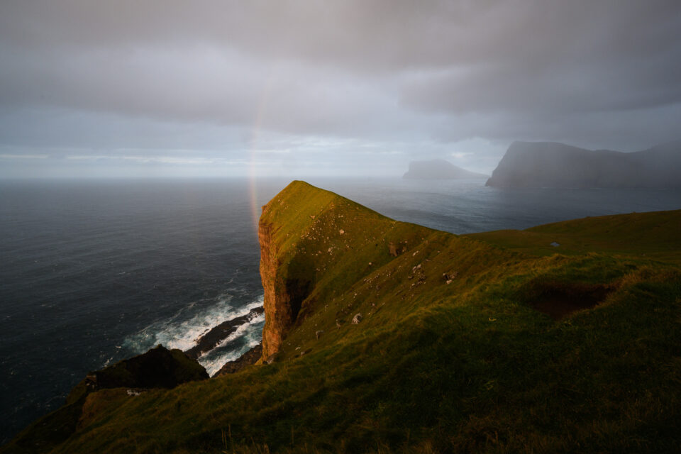 Hint of Rainbow on Kalsoy in the Faroe Islands