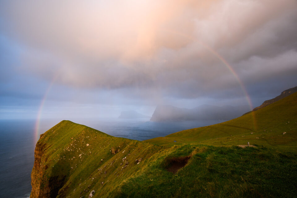 Rainbow Photography Attempt 2 Faroe Islands Kalsoy Lighthouse