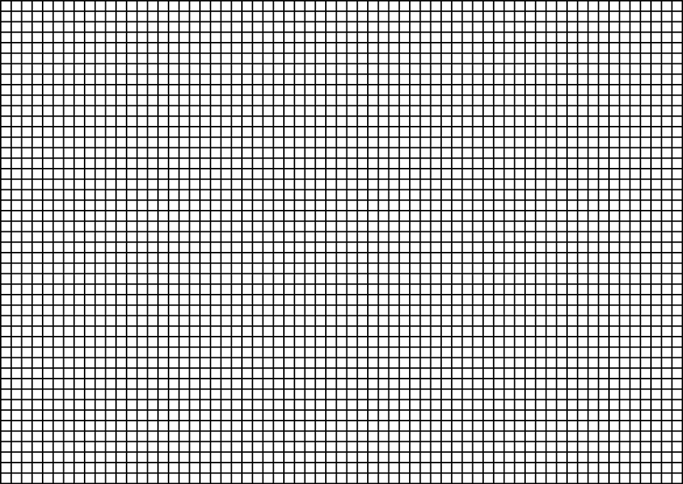 Straight grid, similar to one found on image sensors