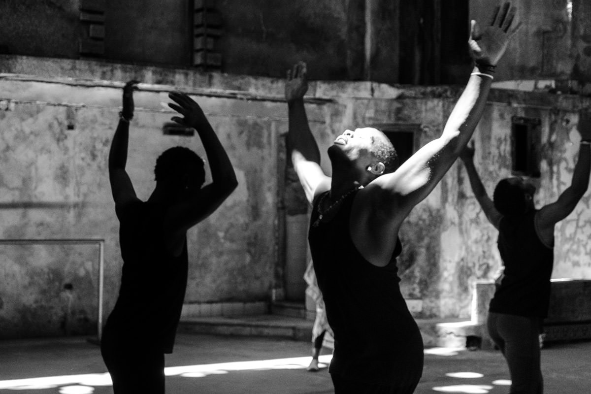Cuba Havana Black Dancers with Hands in the Air
