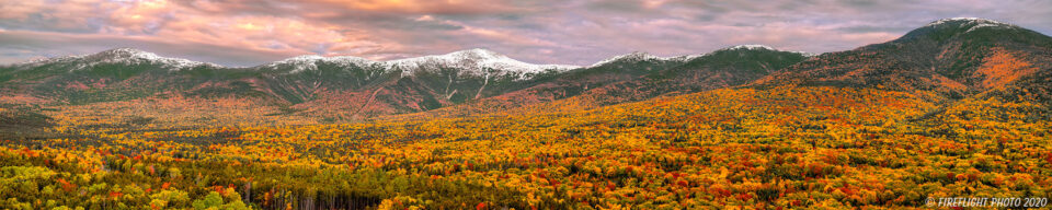 First Snow and Stunning Fall Foliage Colors Mount Washington NH
