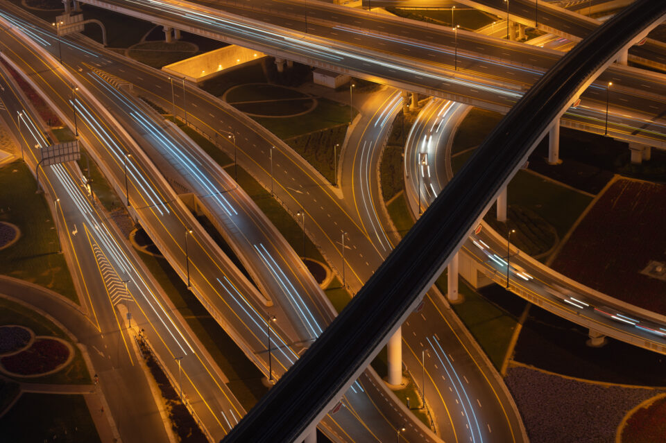 Initial Roads in Dubai Photo